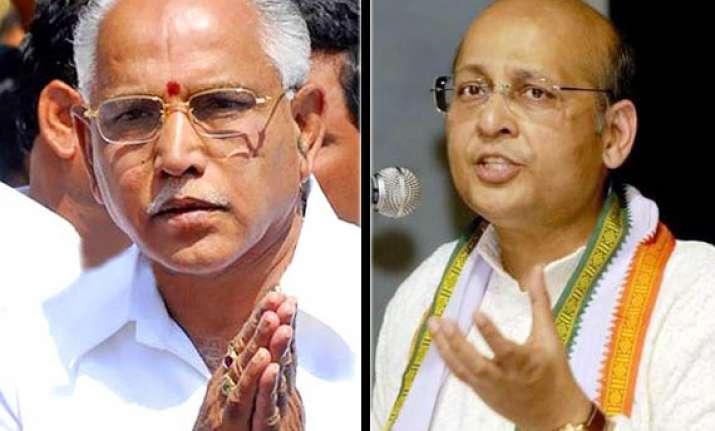 yeddyurappa issue congress slams bjp morality