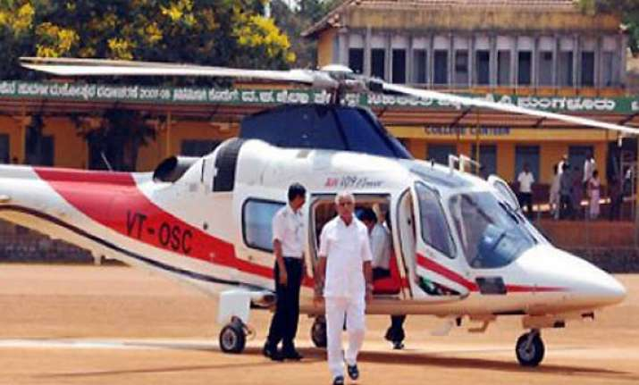 yeddyurappa to curtail travel by choppers