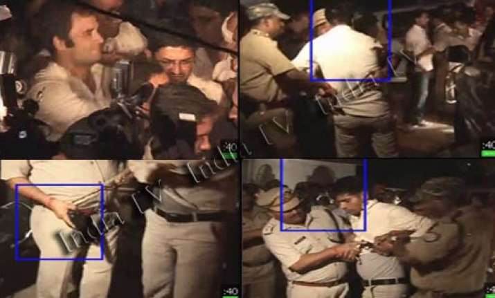 youth with pistol near rahul part of haryana cm security
