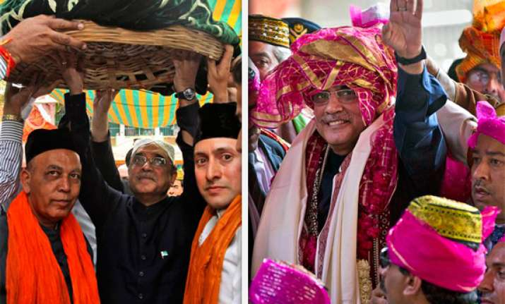 zardari offers prayers at dargah sharif announces one