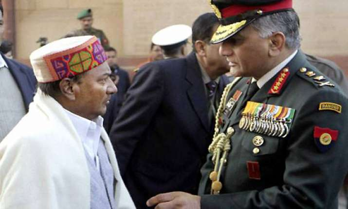 embarrassed govt may ask army chief vk singh to proceed on
