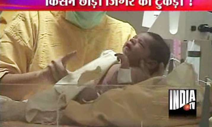5 hour old infant abandoned by parents in delhi