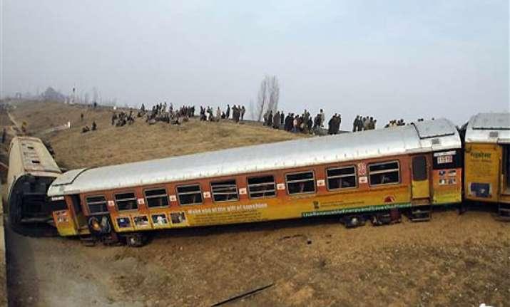 24 injured in j k as train derails