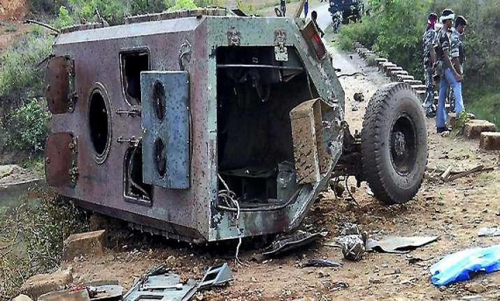 13 policemen including oc killed in maoist attack