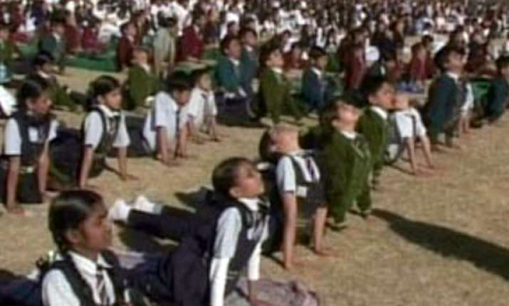 50 lakh students across mp participate in surya namaskar