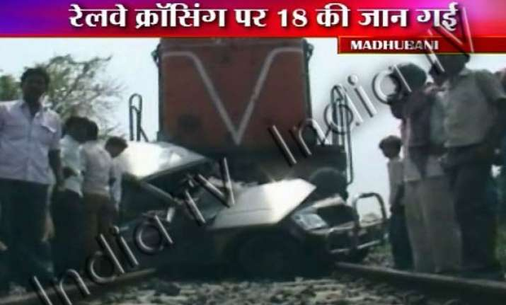 18 mowed over by train in bihar