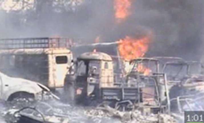 200 vehicles seized by hyderabad police gutted in fire