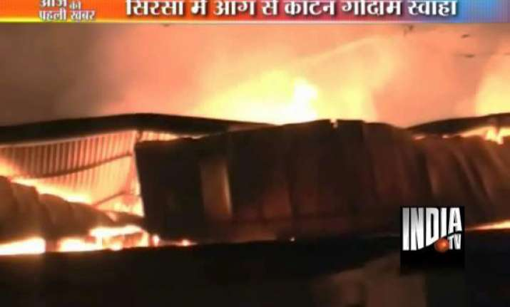 15 000 cotton bales gutted in sirsa fire