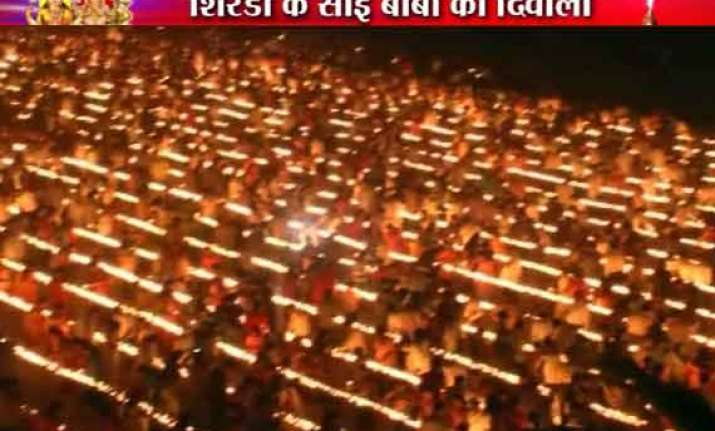 1 08 000 diyas lighted in shirdi on diwali