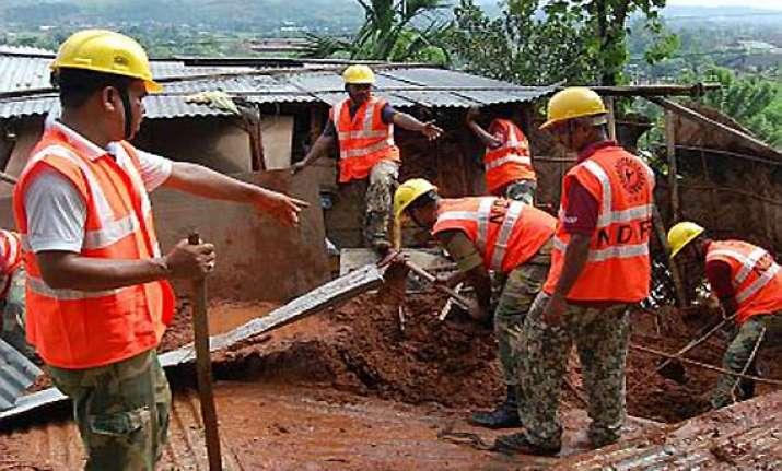 7 family members buried alive in landslide
