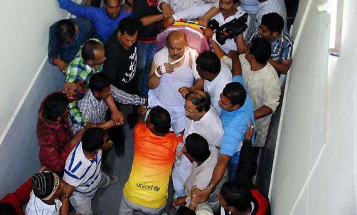 10 held for attack on odisha minister maheswar mohanty