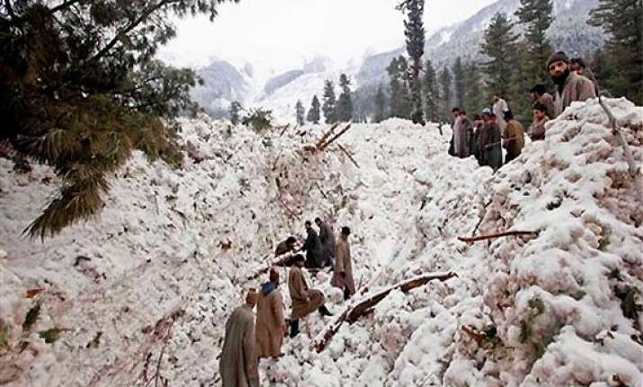 1 killed another feared dead in avalanche in j k