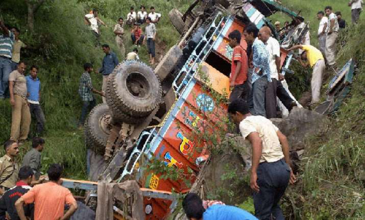 20 killed as truck falls down a gorge in punjab