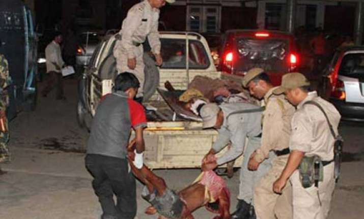2 killed 6 injured in bomb blast in a market in manipur