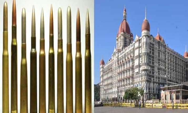 16 live cartridges found near taj hotel in mumbai