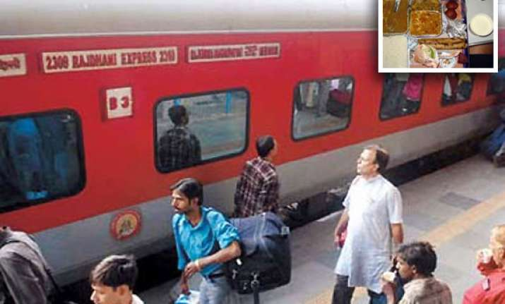40 pc hike in food rates on rajdhani shatabdi duronto