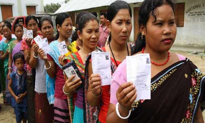 73.34 pc voter turnout in repolling in assam