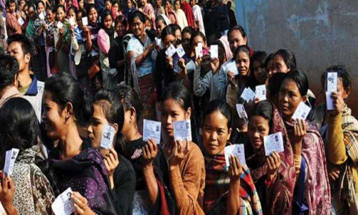 80.05 percent voting in assam in three phases