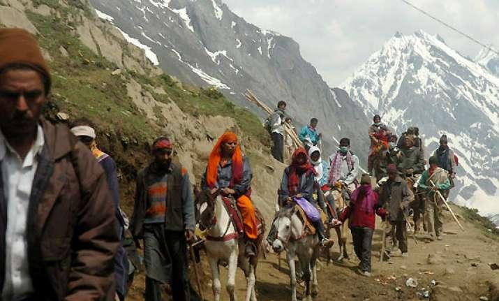 44 pilgrims leave for amarnath