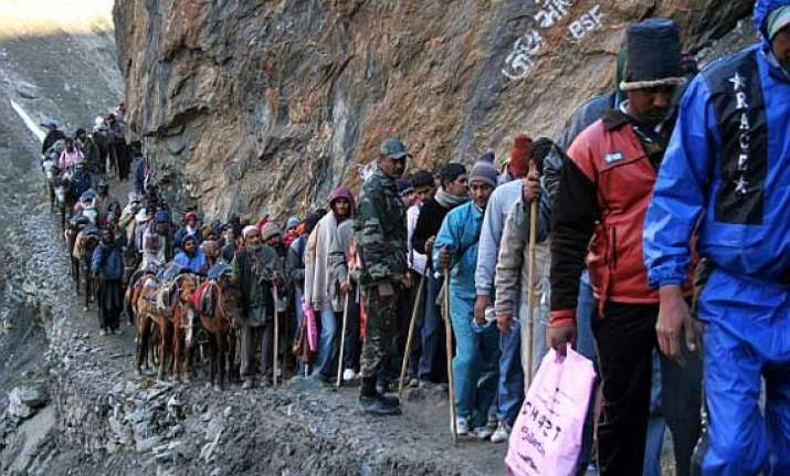 7th batch of devotees leave for amarnath from jammu