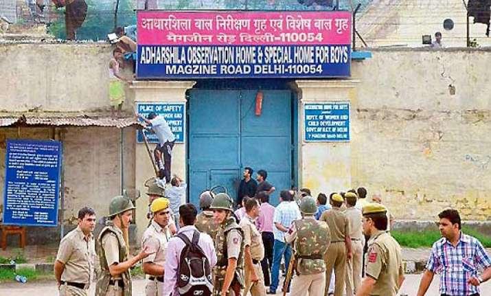 15 to 20 juveniles escape after arson clash in delhi