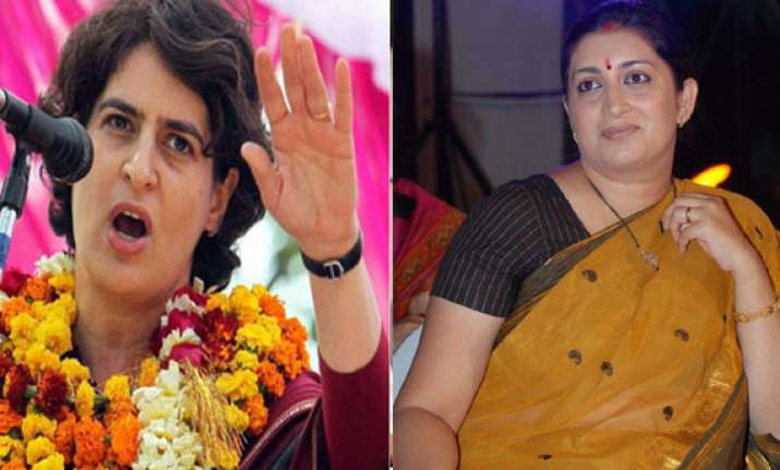 who quips priyanka about irani who hits back
