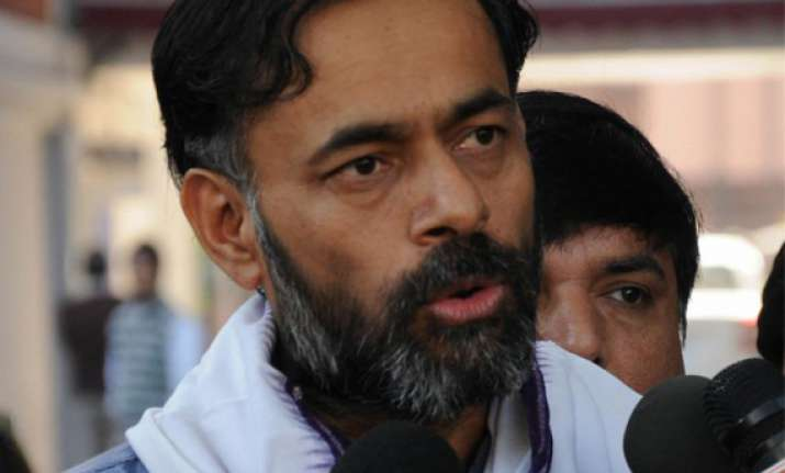 aap s yogendra yadav has two acres land rs.2 000 cash in