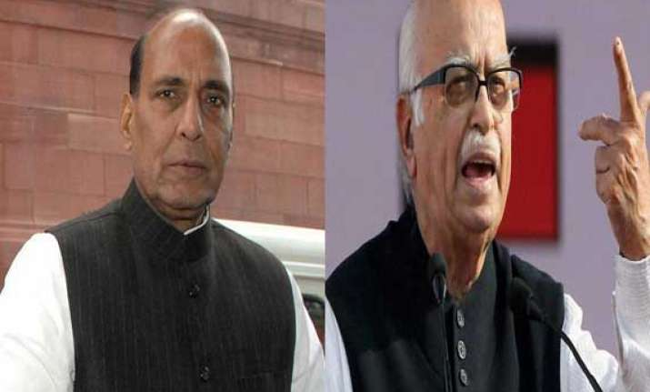 advani can choose his constituency says rajnath