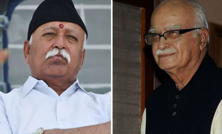 advani rss chief have detailed and candid interaction