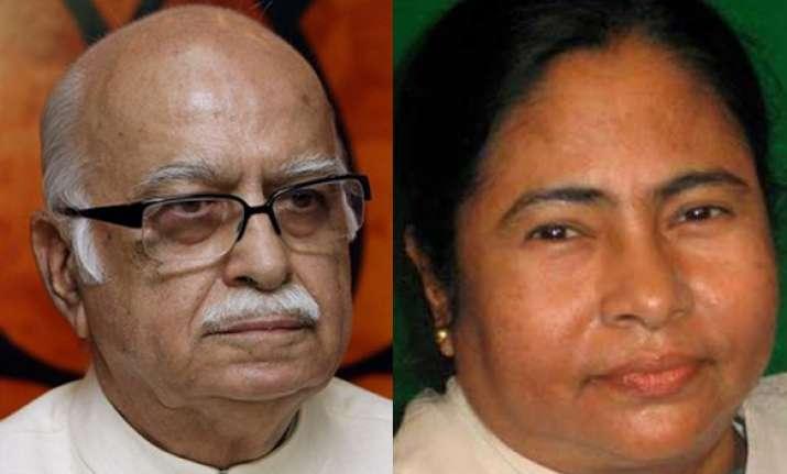 advani congratulates mamata