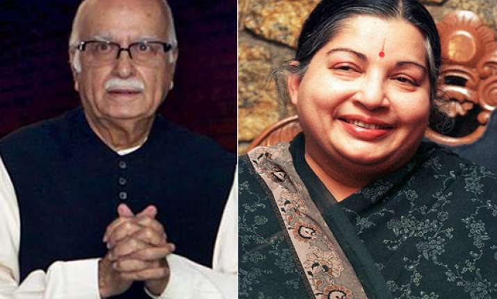 advani meets jayalalithaa both to co ordinate on prez poll