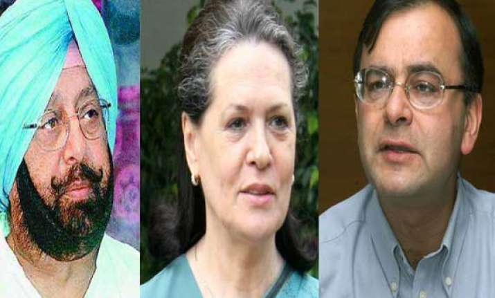 amarinder singh lashes out at jaitley for raising sonia