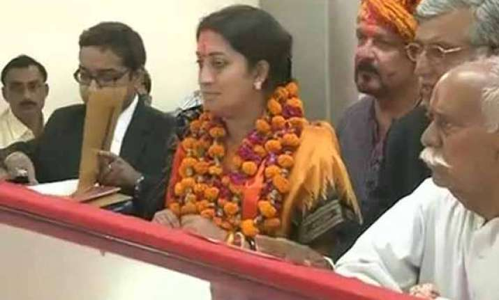 amethi will script history says smriti irani after filing