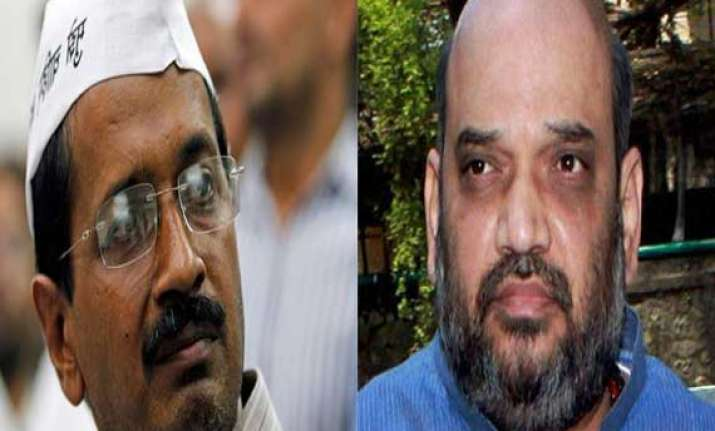 amit shah challenges kejriwal to contest against modi in