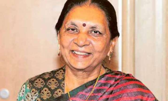 anandiben patel sworn in as gujarat s first woman chief