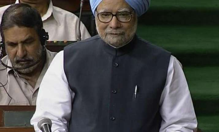 combative manmohan attacks bjp in parliament opposition