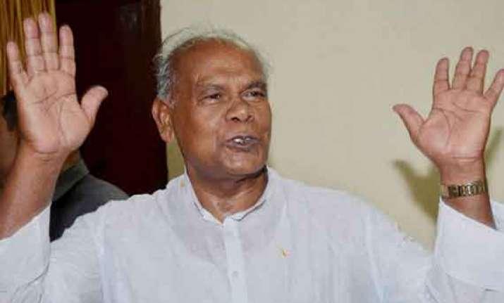 anti bjpism is the issue now jitan ram manjhi