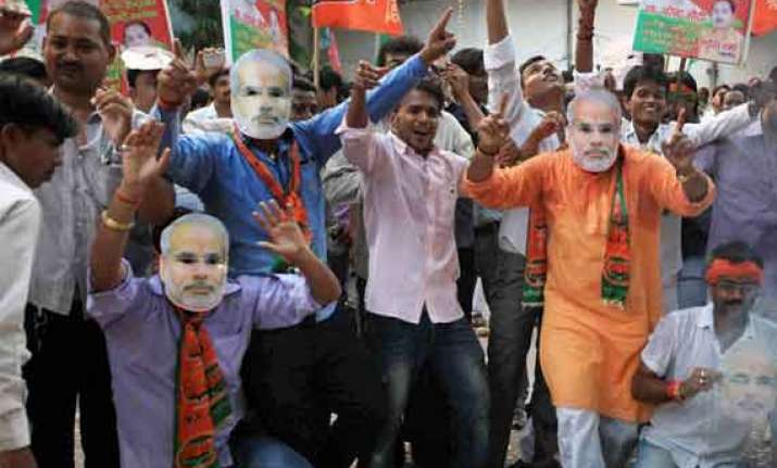anticipating victory bjp prepares for big day