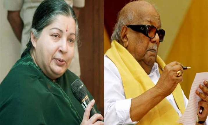 arch rivals jayalalithaa karunanidhi welcome union budget