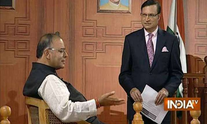 exclusive read full interview of arun jaitley to rajat