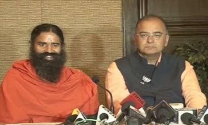 arun jaitley compares ramdev with mahatma gandhi jp narayan
