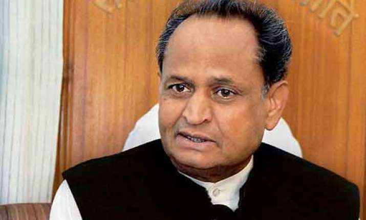 ashok gehlot slams raje for accusing his government of