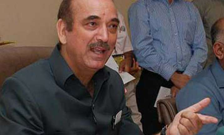 azad rules out early lok sabha elections