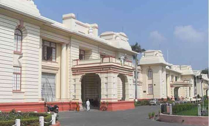 bjp jd u mlas stage protest at assembly portico