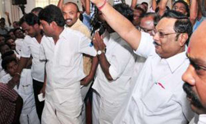 bjp allies celebrate alagiri ouster