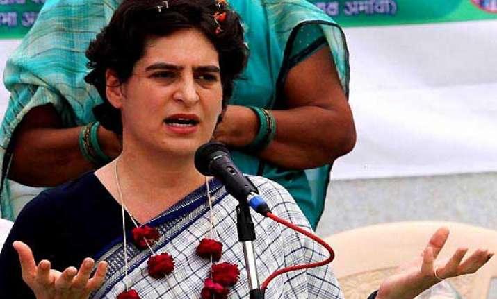 bjp behaving like baffled rats says priyanka on vadra video