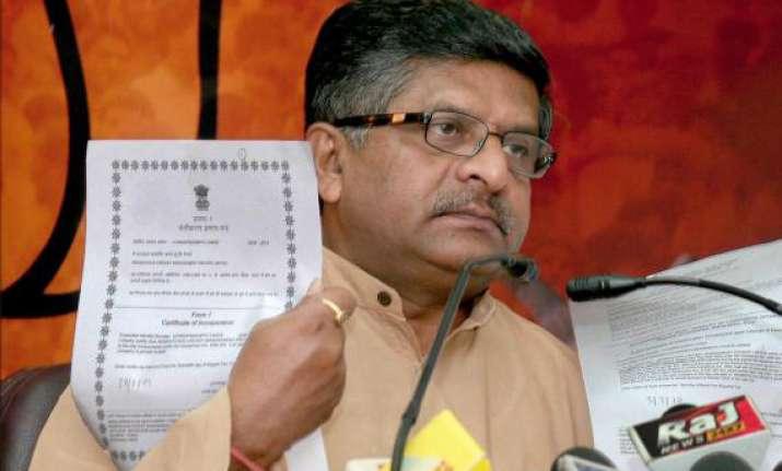 bjp chargse sheet on upa rule targets sonia rahul