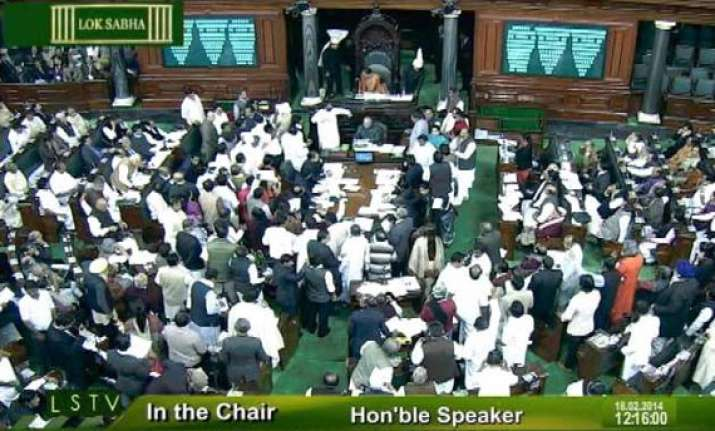 bjp condemns blackout of ls tv coverage