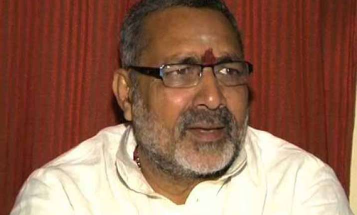 bjp distances itself from giriraj singh s pakistan remark