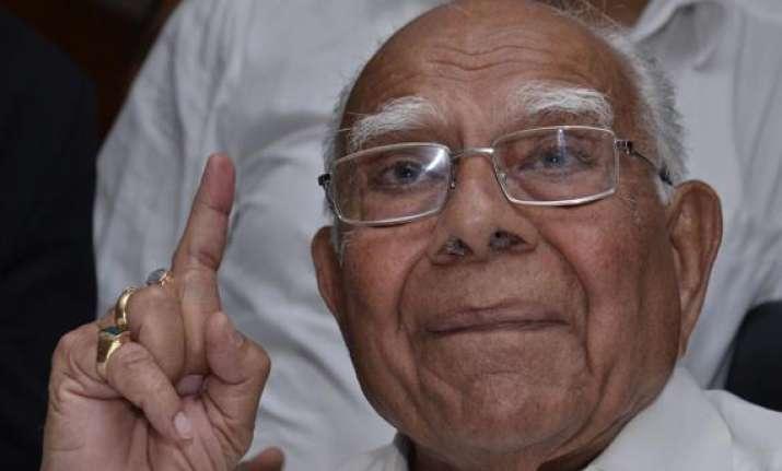 bjp expels ram jethmalani for six years
